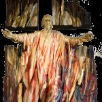 Figura Chrystusa Króla z głównego ołtarza